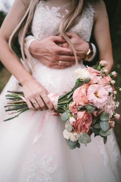 the bridegroom embraces the brides waist QD8XGYC 427x640 - Portfolio
